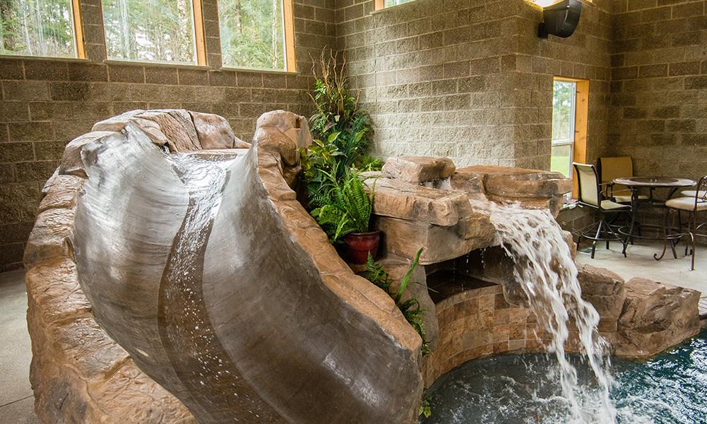 Water Slide Designed for Custom Pool