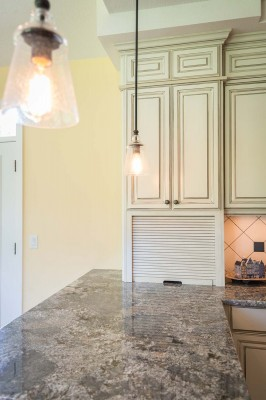 custom cabinetry and lighting