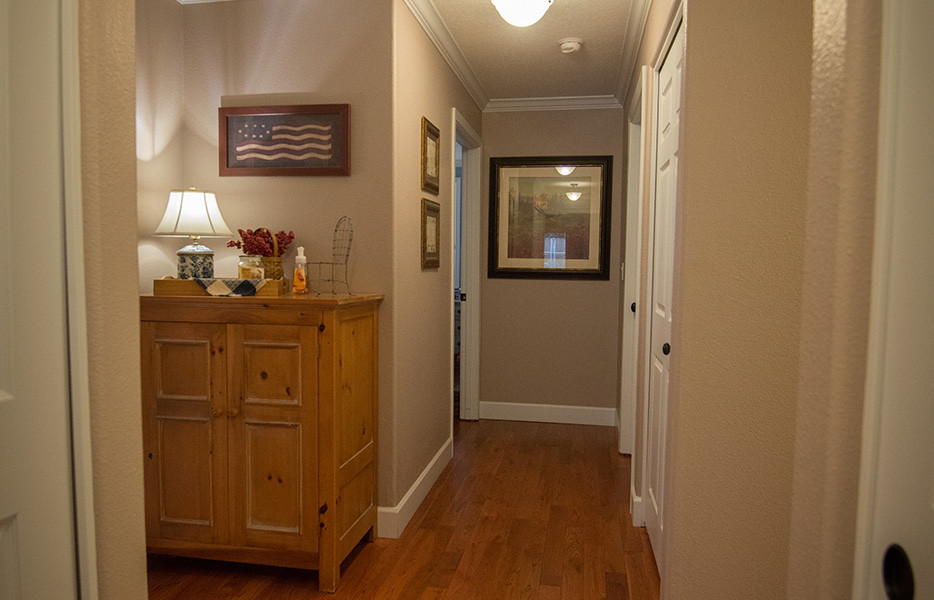 Interior Hallway with Hardwood and Custom Trim