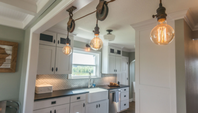 Kitchen Island Light Fixture - A.C.T. Builders